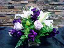 AFTER SERVICE LAV/WHITE CENTERPIECE PACKAGE 5-CENTERPIECES FOR RECEPTION