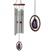 Agate Chime - Large, Purple Overall Length: 25 inches • Diameter: 5 inches