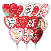 Air Filled Love Balloons on a Stick Balloons