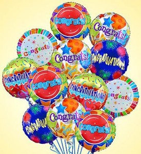 AIR-RANGEMENT - CONGRATULATIONS balloons in Camp Pendleton, CA | CAMP PENDLETON FLORIST
