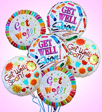 Air-Rangement® - Get Well Mylar Balloons Balloons