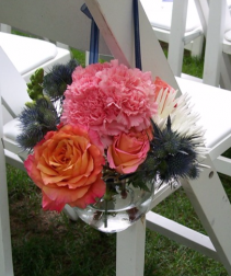 Aisle and Chair Markers Wedding Flowers
