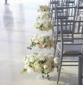 AISLE DECOR WEDDING FLORALS