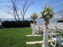 Aisle Urn Arrangements Chesapeake Bay Beach Club