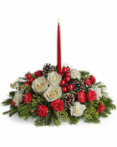 All Aglow Centerpiece Christmas Arrangement
