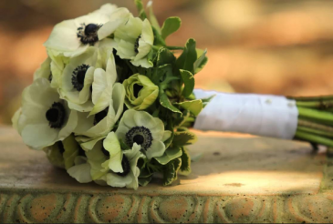 All Anemone  Wedding Bouquet