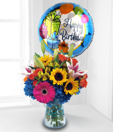All Birthday Blooms Floral Arrangment