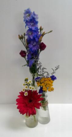 All Bottled Up! Fresh Flowers