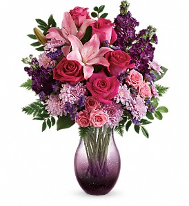 All Eyes On You Bouquet in Hand-Blown Glass Vase Teleflora