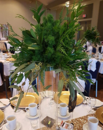 All Greenery Tall Centerpiece Table Centerpiece