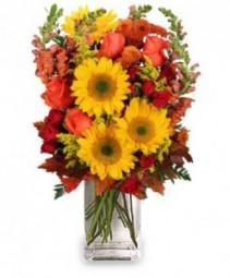 All Hail to Fall Flower Arrangement