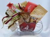 Sleigh Full of Chocolates- Christmas Gift Baskets Chocolate Gift Baskets  Christmas Corporate Gift Baskets-   Christmas Gift Baskets with Chocolates and Wine