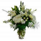 All in White Vase arrangement