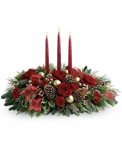 All is Bright Centerpiece in Warrington, PA | ANGEL ROSE FLORIST INC.