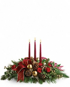 Candle Glow Christmas Arrangement in Osceola Mills, PA | COLONIAL FLOWER & GIFT SHOP