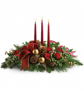 All Is Bright           T114-1 Christmas Floral Centerpiece