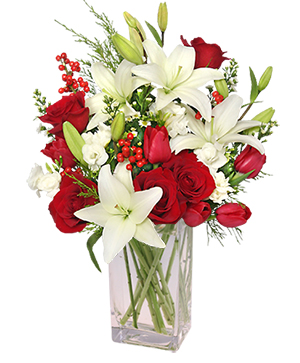 ALL IS MERRY & BRIGHT Holiday Bouquet in Bethel, CT | BETHEL FLOWER MARKET OF STONY HILL