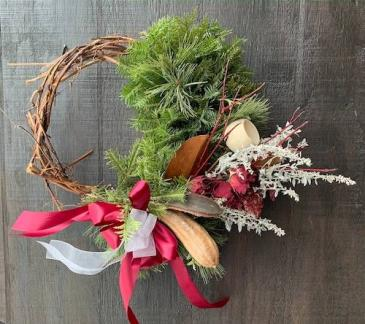 All-local winter wreath