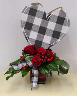 All My Heart fresh with keepsake heart in Bolivar, MO | The Flower Patch & More