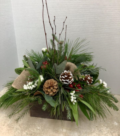 Christmas Greenery Centerpieces.Marie S Flower Shoppe