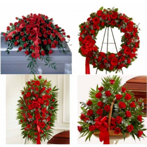 All red Funeral Package   in Sunrise, FL | FLORIST24HRS.COM