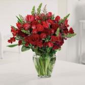 All Red Love Bloom Vase