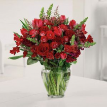 All Red Love Bloom Vase