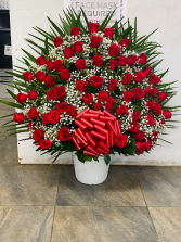All red roses basquet We miss you