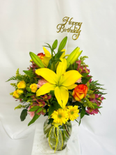 All Smiles  Floral Arrangement  in Long Beach, Mississippi | Forget-Me-Not Florist