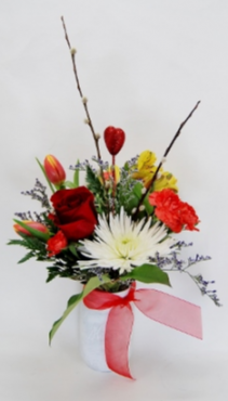 All the Colors of Love Vase Arrangement