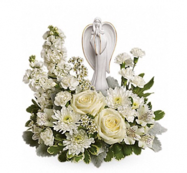 All white Angel funeral arrangement  Funeral
