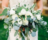 All white beauty bridal