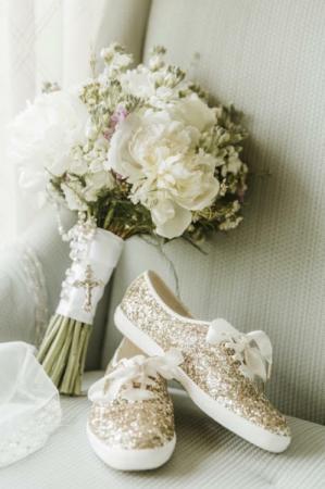 All White Bridal Bouquet  Wedding