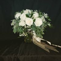 All White Bridal Bouquet Wedding Bouquet, Hand tied
