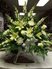 All White Classic Sympathy Arrangements