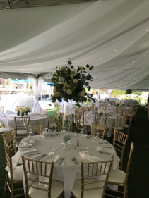 All White Elevated Centerpiece