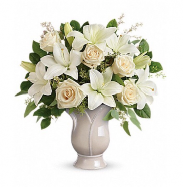 All white funeral arrangement  Funeral