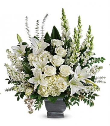 All white funeral arrangement  Funeral arrangement