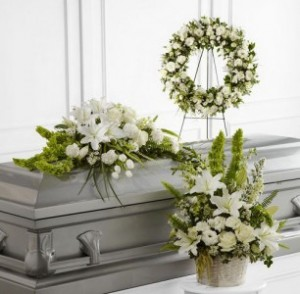 All White Funeral Package A  in Lauderhill, FL | BLOSSOM STREET FLORIST
