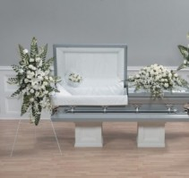All white grouping Funeral grouping from immediate family