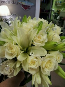 All White Hand Bouquet Hand Bouquets