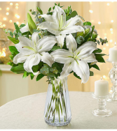All White Lilies All-Around Floral Arrangement