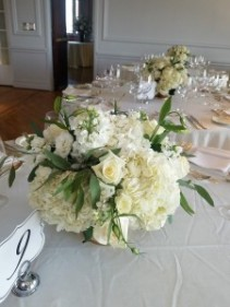All white Low centerpiece