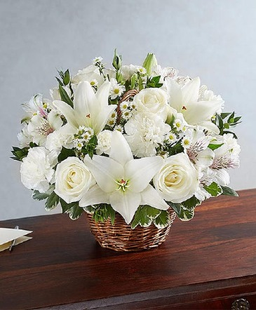 All White Peace Basket