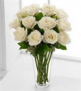 All White Roses 1 Dz. White Roses