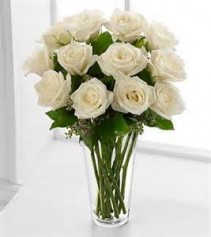 All White Roses 1 Dz. White Roses in Colorado Springs, CO | Enchanted Florist II