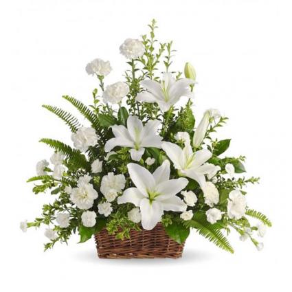 All White Splendor Arrangement