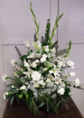 All White Sympathy Arrangement Sympathy Arrangements