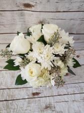 All White Sympathy Vase