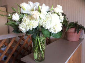 All white large floral vase All occasions  in Peconic, NY | Country Petals and Greenport Florist